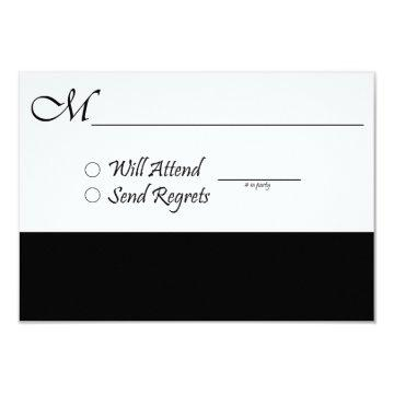 RSVP Card for Wedding and Graduation
