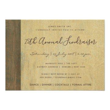 RUST CORROSIVE GRUNGE YELLOW METAL CORPORATE EVENT INVITATION