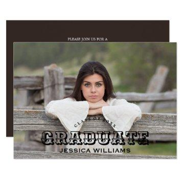 Rustic Country Graduation Photo