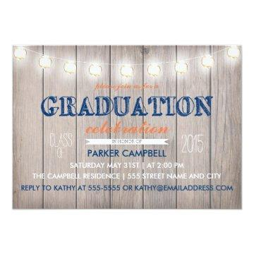 Rustic Graduation Celebration Invite