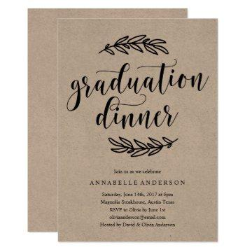 Rustic Graduation Dinner Invitation