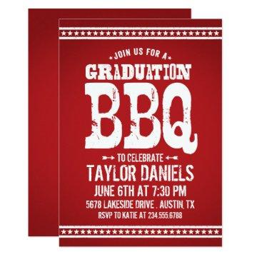Rustic Red Graduation Party BBQ