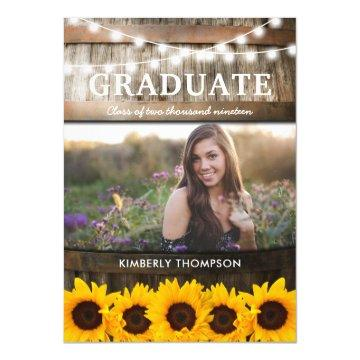 Rustic Sunflower Photo 2018 Graduation Party