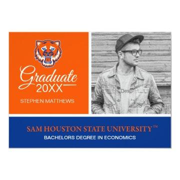 Sam Houston Bearkats Graduation Invitation