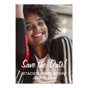 Save Date Graduation Photo Magnetic Invitation