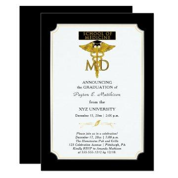 School of Medicine Doctor | Physician Graduation Invitation