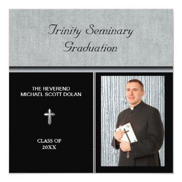 Seminary Graduation Photo Christian Custom Card