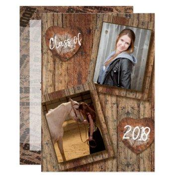 Senior Photo Graduation - Barnwood Card