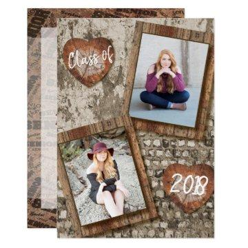 Senior Rustic Photo Graduation Card