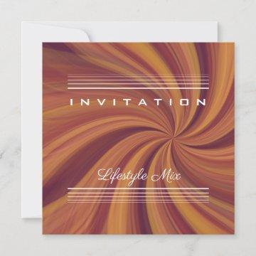 Shades of Brown Psychedelic Trippy 80's Invitation