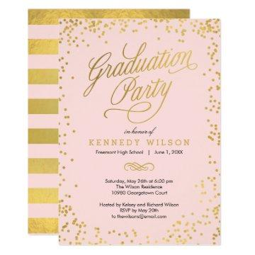 Shiny Confetti Graduation Party  Pink