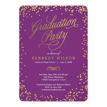 Shiny Confetti Graduation Party  Plum