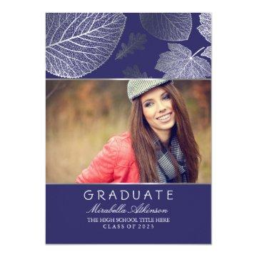 Silver Fall Photo Graduation Party - Announcement