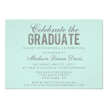 Silver Faux Glitter Graduation Party