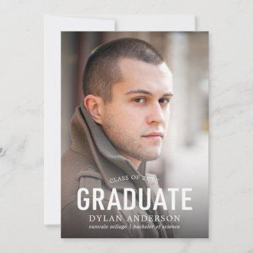 Simple Bold Graduate Photo Graduation Announcement