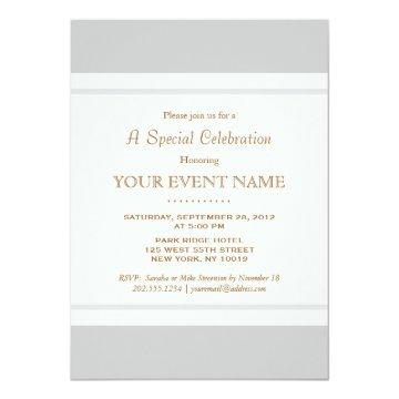 Simple Elegant Vintage Light Gray Professional Invitation