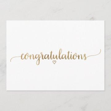 Simple Gold Calligraphy Congratulations Card