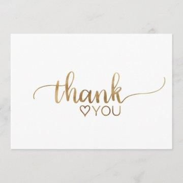 Simple Gold Calligraphy Thank You