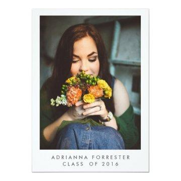 Simple Graduation Party Photo Card