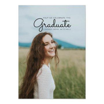Simple & sleek Graduate Party Invite