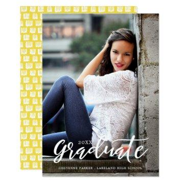 Simply Stylish | Graduation Announcement | White