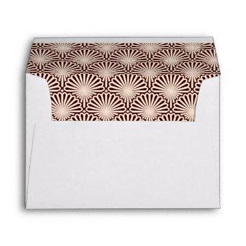 Sophisticated Abstract Art Deco-style Lined Envelope