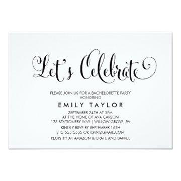 Southern Belle Calligraphy Let's Celebrate Card