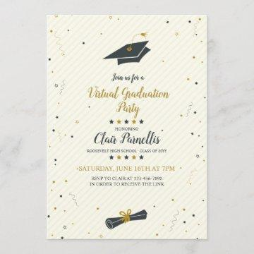 Spirited Virtual Graduation Party Invitation
