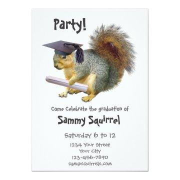 Squirrel Graduation Party