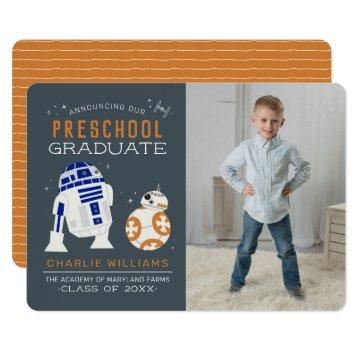 Star Wars | R2-D2 & BB-8 Graduation Announcement