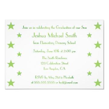 Stars Kids Custom Graduation Party  Card