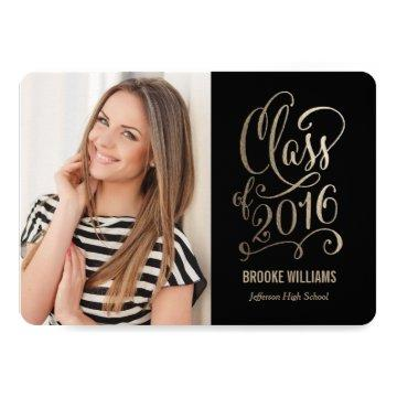 Stellar Year Editable Color Graduation Card