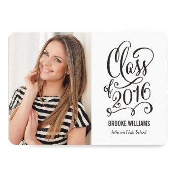 Stellar Year Editable Text Color Graduation White Card