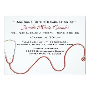 Stethoscope Medical School Graduation