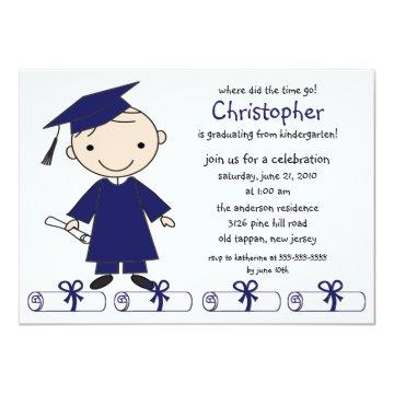 Stick Figure Boy Graduation