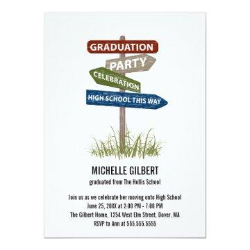 Street Sign 8th Grade Gradution Party Card