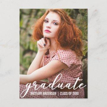 Stylish Graduation Party Invitation Postcard