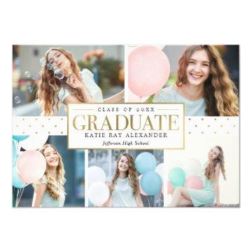 Stylish Tag Graduation Announcement Invitation