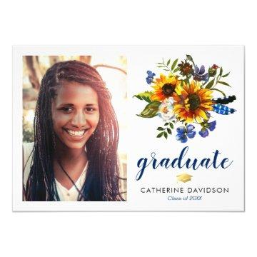 Sunflower Graduation 2019 Photo Invitation