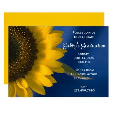 Sunflower on Blue Graduation Party