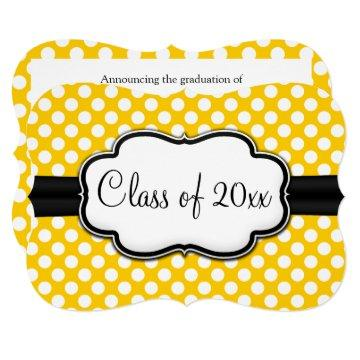 Sunny Yellow Polka Dot Graduation/Party