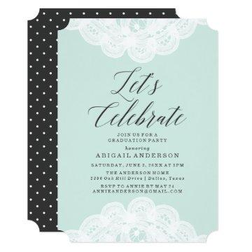 Sweet Lace Graduation Party  in Mint