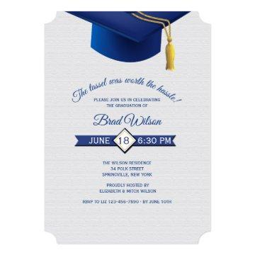 Tassel Worth the Hassle Graduation Invitation