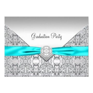 Teal Blue Graduation Party