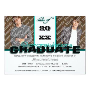 Teal CLASS OF Graduation Party