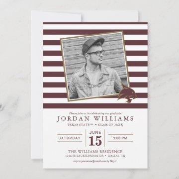 Texas State Striped Graduation Announcement