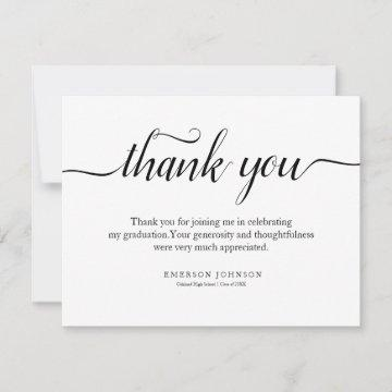 Thank You Graduation Thank You Note Card