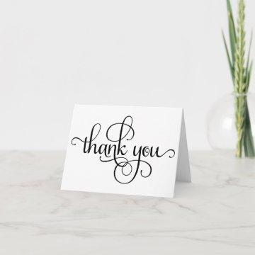 Thank You Modern Elegant Stylish Script Card