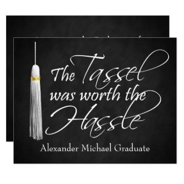 The Tassel Was Worth the Hassle Announcement