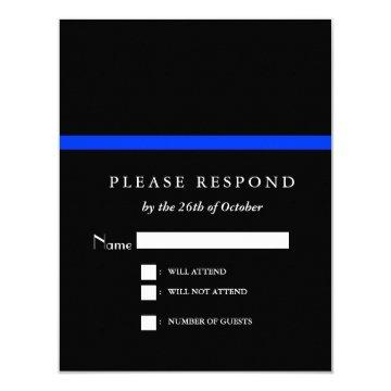 Thin Blue Line Police Event RSVP Card